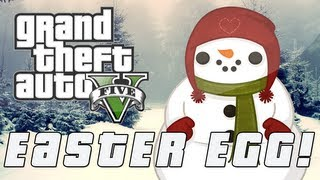 Grand Theft Auto 5 Giant Snowman Easter Egg (GTA V