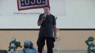 "Robin Williams as Troops ""Retreat"" at Camp Arifjan, Kuwait"
