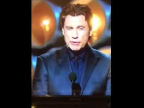 John Travolta - Idina Menzel presenter fail - oscars 2014