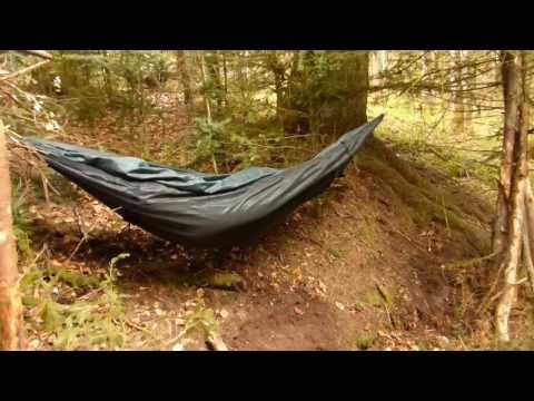 Bushcraft Lagerbau im Wald #18 - Hängematte & Lehm