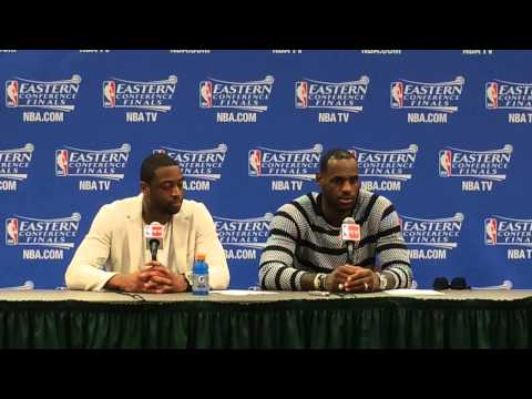 Dwyane Wade, LeBron James speak after victory in Game 2