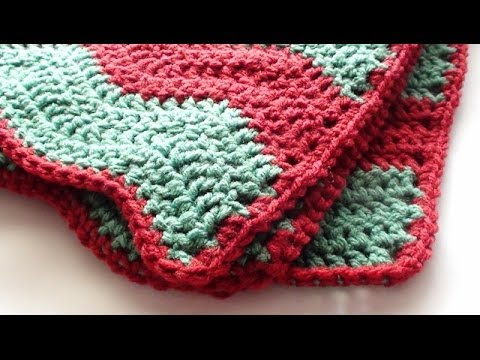 Single Crochet Edging for Soft Crochet Chevron Blanket