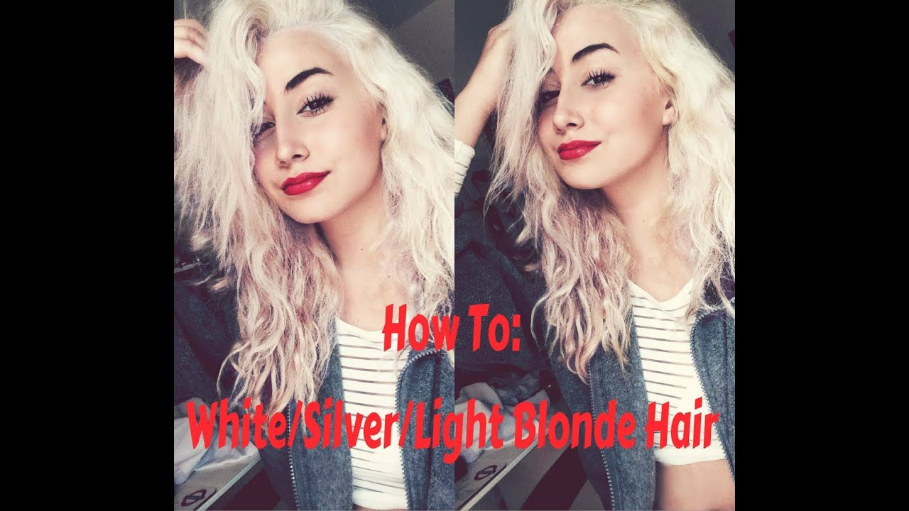 How To Get White Silver Light Blonde Hair ♡ Youtube