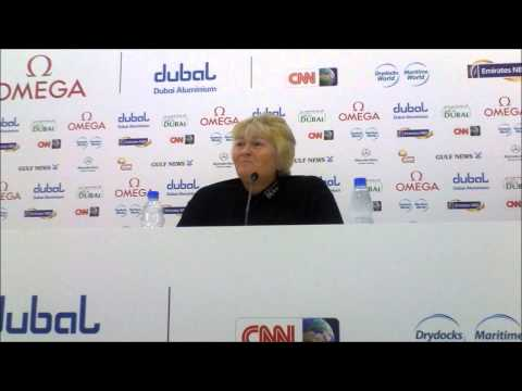 Laura Davies Talking about her form and coming goals ahead of the 2013 Omega Dubai Ladies Masters