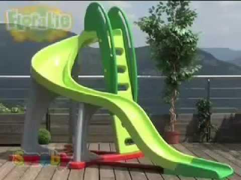 Smoby Childrens U Turn Large Garden Kids Slide Youtube