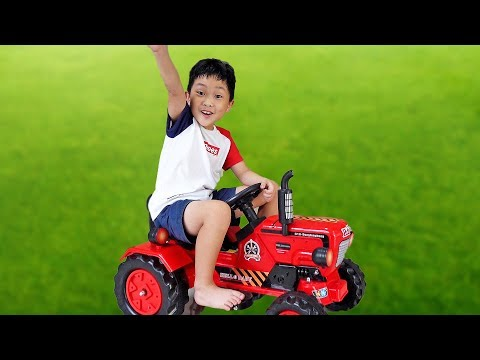 Car Toy Assembly Tractor with Fruit Play Funny Outdoor Playground Activity