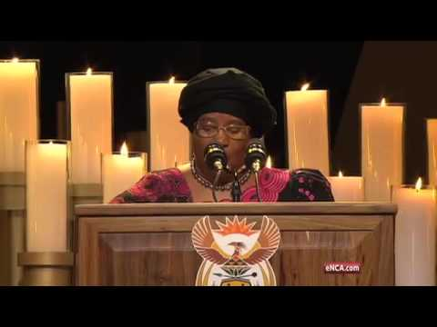 Joyce Banda addresses mourners