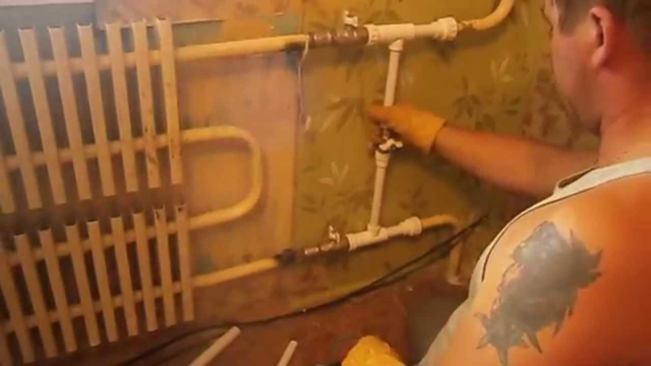 Теплый пол водяной от центрального отопления своими руками.