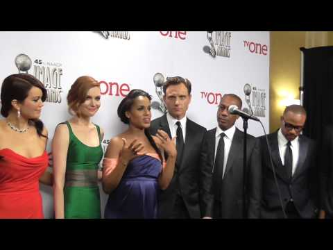 45th NAACP IMAGE AWARDS: THE CAST OF SCANDAL: GARY GEORGE  (IVNEWS)