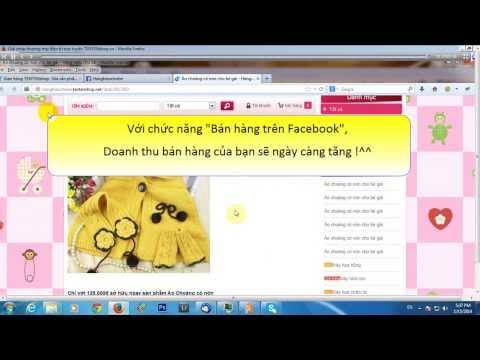 Hướng dẫn tích hợp bán hàng facebook - TENTENshop