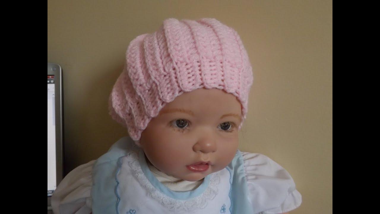 Crochet gorro para bebe 39 youtube - Gorritos bebe ganchillo ...