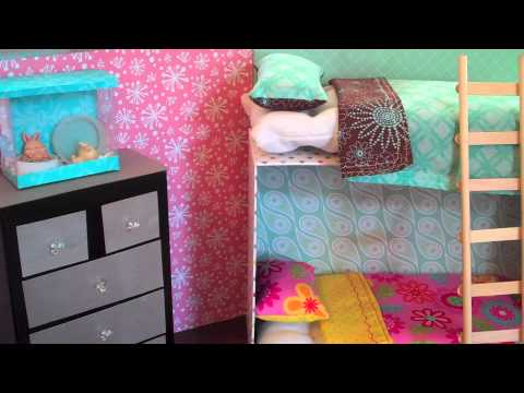 how to make doll bunk beds easy youtube. Black Bedroom Furniture Sets. Home Design Ideas