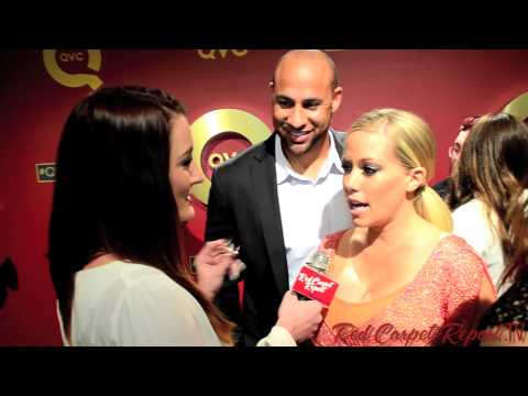 Hank & Kendra Wilkinson-Baskett at QVC's Red Carpet Style Party #QVCRedCarpet @KendraWilkinson