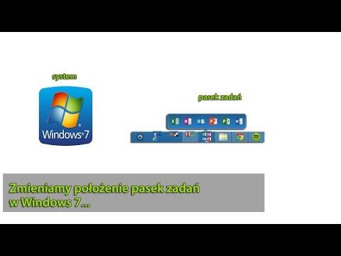 Jak zmienić położenie paska zadań w Windows 7