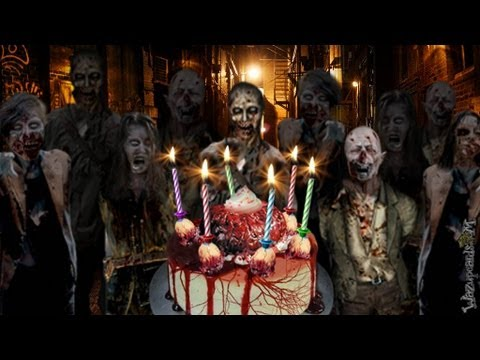 zombie party cake   happy birthday not for small kids