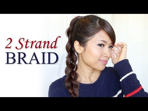 How to: 2-Strand Braid Ponytail Hair Tutorial