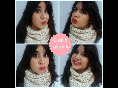 DIY Tutorial cuello de ganchillo dos vueltas - Crochet scarf