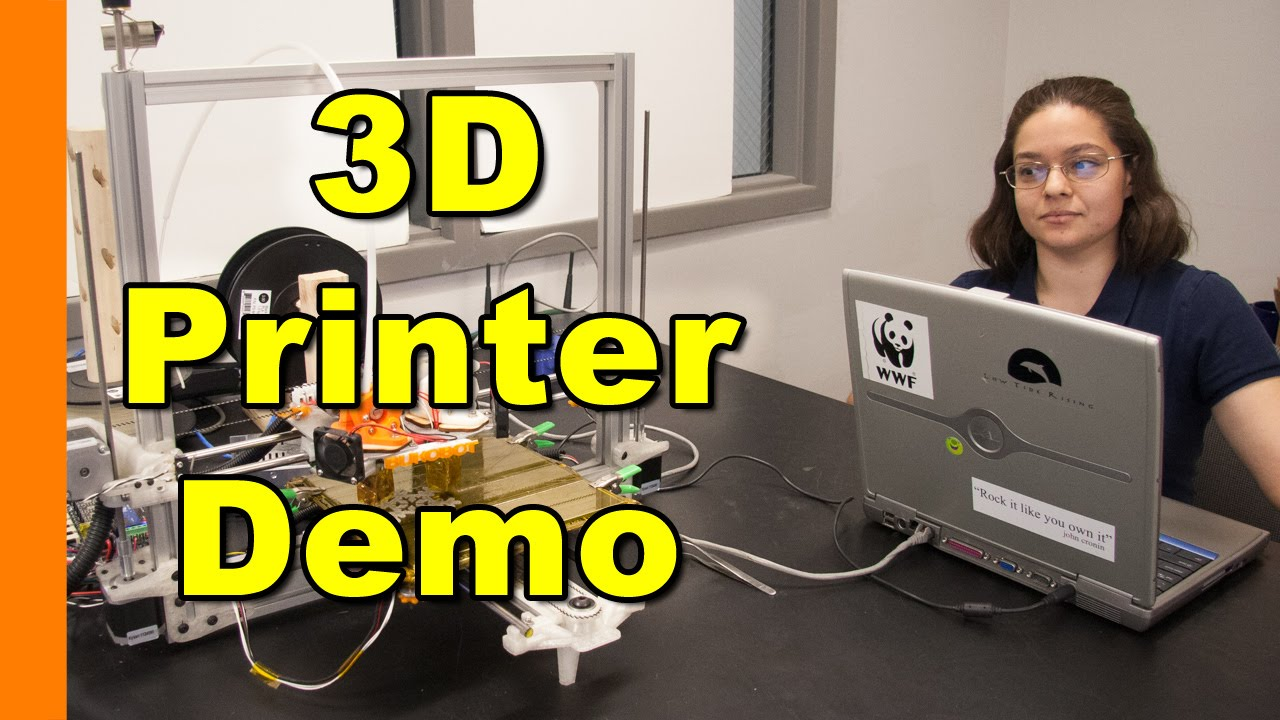 3D Printer Demo - Bukobot with Raspberry Pi - YouTube