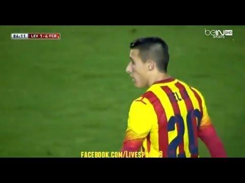 Barcelona 4 - 1 Levante Hat Trick Cristiano Tello With Amazing Messi Pass  22/01