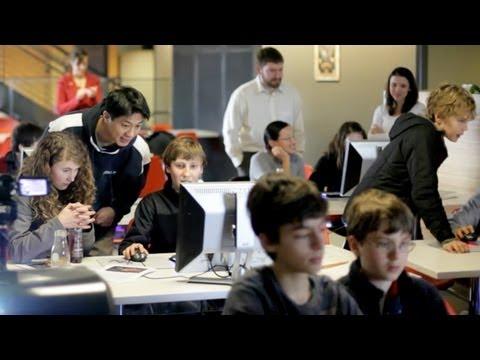 Семиклассники школы Эвергрин посетили студию Valve.