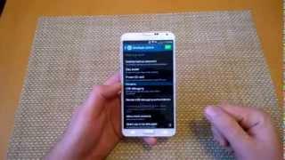 Samsung Galaxy Note 3 Enable Development Mode Turn On Usb