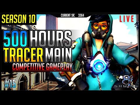 Overwatch Season 10: Tracer Main Competitive Gameplay Live! #15
