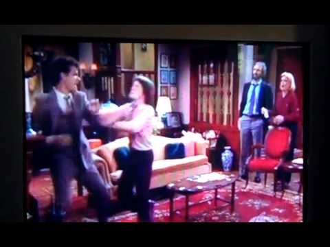 Tom Hanks punches (the air two feet in front of) Michael J. Fox