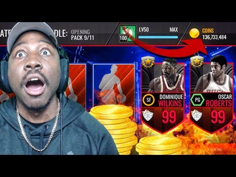 OVER 100 MILLION COINS EARNED &  UL PACK OPENING! NBA Live Mobile Gameplay Pack Opening Ep. 167