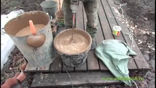 Приготовление раствора для кладки печей