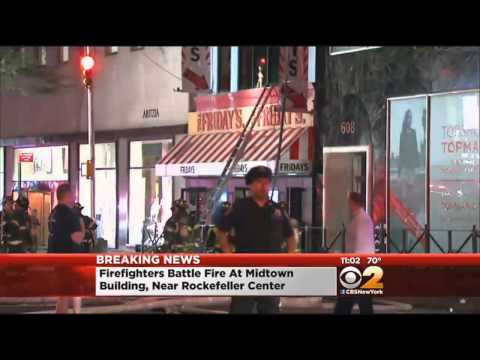 Firefighter injured battling NY restaurant fire