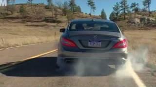 Test: neuer Mercedes CLS 63 AMG 2011 BURNOUT!!! videos