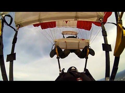 Impressive 3-Way Parachute Downplane -- The SkyHawks
