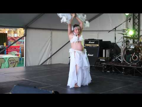 Belly Dance Show Pregnancy 8 months by Amoura