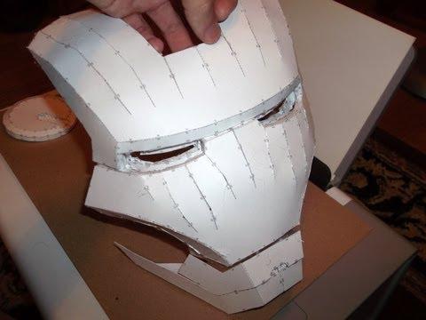 Как сделать маску из бумаги маску железного человека из бумаги своими руками 54