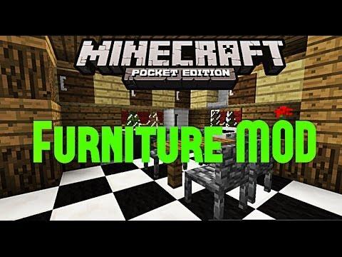 Furniture Mod Minecraft Pe 0 8 1 Youtube