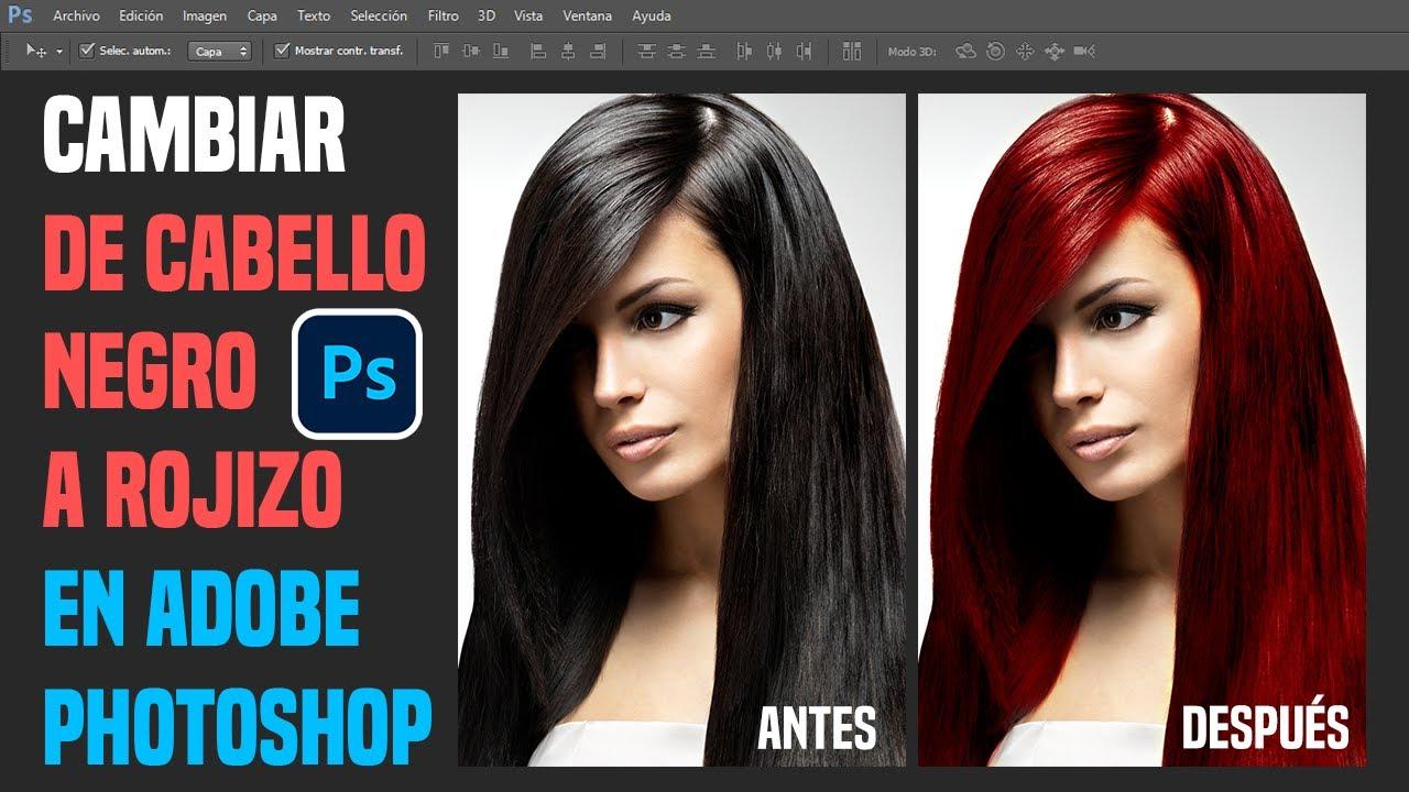 Retoque fotogr fico cambio de color cabello oscuro a - Como cambiar el color de un mueble oscuro a claro ...