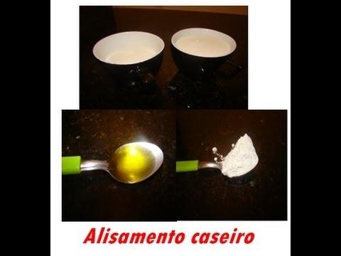 Alisamento caseiro (leite e amido de milho)