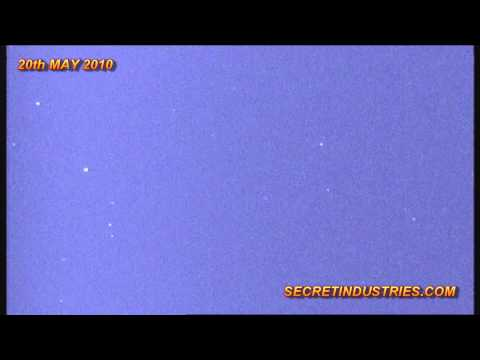 Satellite Highway - Satellites Captured In Night Vision In The Night Sky