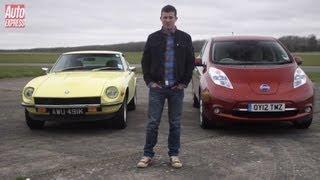 Datsun 240Z vs Nissan Leaf - Auto Express. Auto Express.