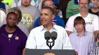 "President Obama: ""They Drove Our Economy Into A Ditch"