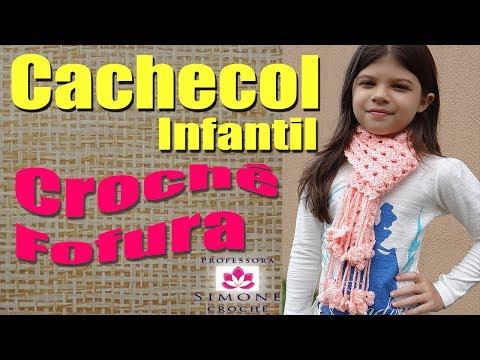 Passo a passo Cachecol Infantil Crochê FOFURA - Professora Simone