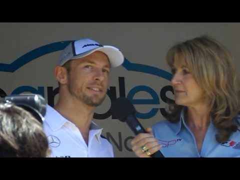 Jenson Button & Kevin Magnussen Autograph Stage Interview, Melbourne GP 2014