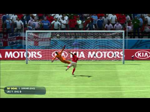 2014 FIFA World Cup Brazil Simulation - Match 23 - Uruguay vs England Group Stage