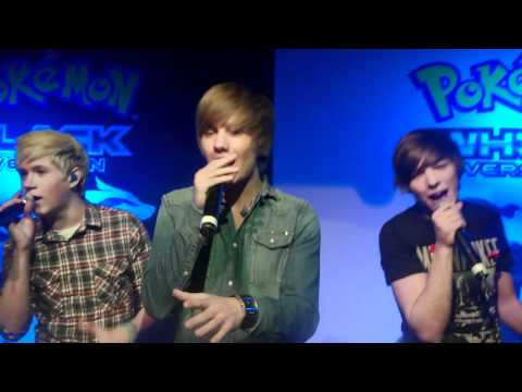 One Direction sing Only Girl In The World at the Pokemon Black and White Launch!