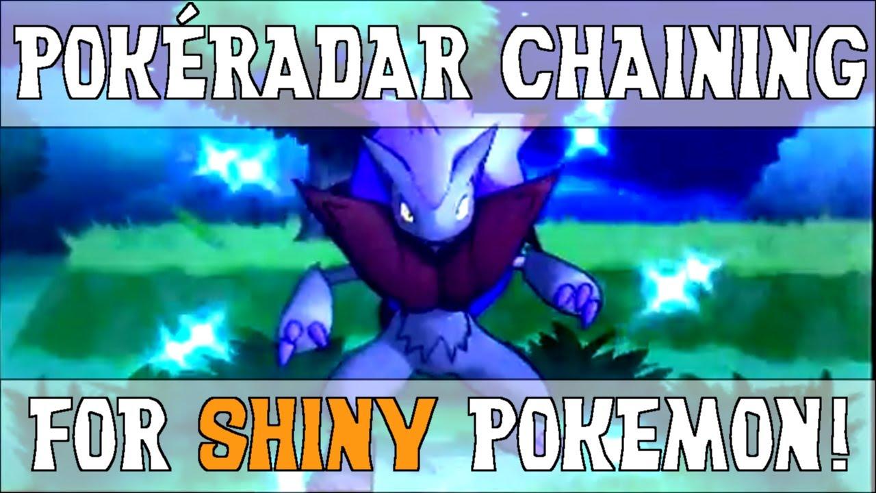pokemon y how to get shiny pokemon with pokeradar