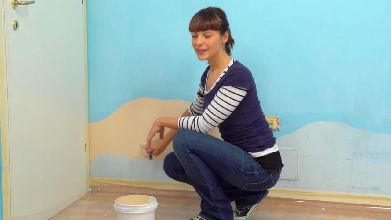Ricreare un fondale marino nella camera dei bimbi parte 1 dipingere le pareti youtube - Dipingere camera bambini ...