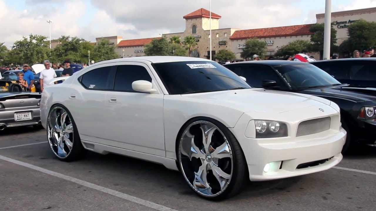 dodge charger on 30 inch rims youtube - 2013 Dodge Charger Black Rims