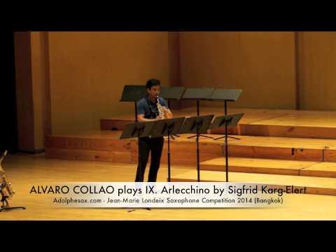 ALVARO COLLAO plays IX Arlecchino by Sigfrid Karg Elert