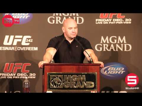 UFC 141 - Pre Fight Press Conference