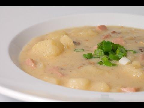 Creamed Potato Soup - HEALTHY FOOD - DIABETIC FOOD